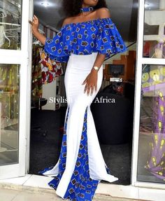 ankara mode Hello gorgeous ladies were looking out one of the most trending styles currently in vogue: Super Stylish and Juicy Ankara Gowns for super ladies African Prom Dresses, Ankara Gowns, Latest African Fashion Dresses, Ankara Dress, Ankara Fashion, African Attire, African Wear, African Women, African Dress