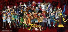 Será que esse jogo é legal? Parece que sim por ter muitos personagens que amo, e ao mesmo tempo acho que não é bom pelo excesso de personagens de animes distintos...