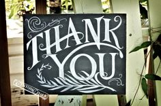 """Decorations idea: except I want it to say, """"Thank You - we really could not have done this without you!"""" Sign Wedding Thank You Sign  Party Thank by customchalk, $39.00"""