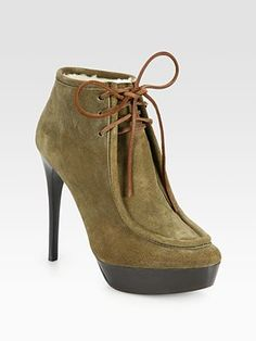 Burberry Prorsum Ramsdale Suede Lace-Up Ankle Boots