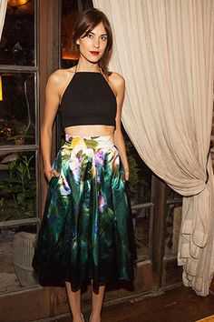Alexa Chung, in Rag & Bone and Dries Van Noten.