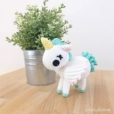Excited to share this item from my #etsy shop: Ready to ship - SMALL UNICORN crochet, amigurumi unicorn, unicorn baby gift, unicorn newborn gift, unicorn gift for kids, unicorn toy Half Double Crochet, Single Crochet, Giraffe Crochet, Crochet Unicorn, Yarn Dolls, Crochet Abbreviations, Unicorn Gifts, Types Of Yarn, Sewing Basics