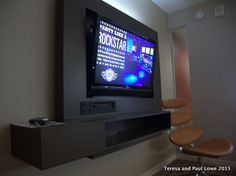 One of two walk mounted HDTV's in your suite at the Hard Rock Hotel San Diego.  Choose your favorite tunes to play while enjoying your suite!