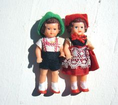 Vintage German Doll House Miniature Dolls  Made by MellowMermaid