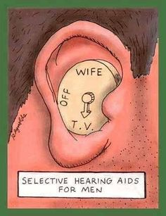 selective hearing aid for men