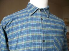 Vintage French shirt work chores woodworking warm by LaCravate