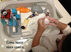 como hacer nieve casera Sensory Table, Montessori, Blog, World, How To Make Snow, Mesas De Luz, Hand Art, Proposals, Homemade