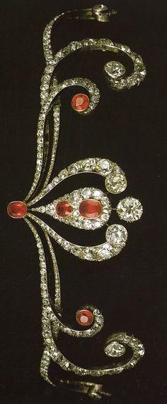Ruby and diamond tiara circa 1870