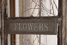 "Unique Wooden ""Flowers"" Sign"