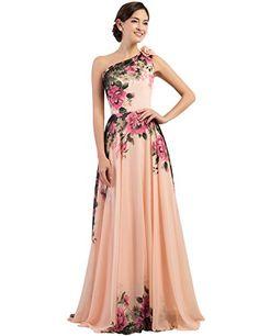 Grace Karin Women's Floral Print Chiffon Evening Dresses (2, One-shoulder) GRACE KARIN http://www.amazon.com/dp/B00YINSS22/ref=cm_sw_r_pi_dp_91cOvb09C9XZ6