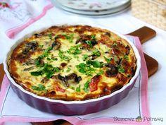 Tarta z kurczakiem i pieczarkami • Domowe Potrawy Quiche, Savory Tart, Snack Recipes, Snacks, Aga, Food And Drink, Healthy Eating, Cooking, Breakfast