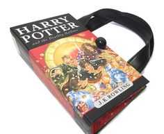 Book Purse Harry Potter and the Deathly Hallows Book, Handmade Womens Handbag made from a book, Altered Book Purse, Recycled Bag on Etsy, $49.99