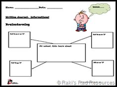 primary informational writing prompt free