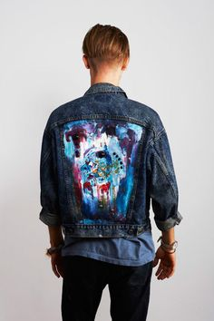 hand painted jacket by Obra Obscura