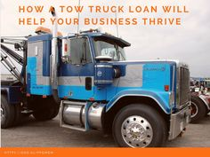 Get started with your tow truck business using a tow truck loan or grow your business to stay ahead of your competitors in the market.