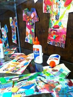 Too Much Glue -- Book and art lesson
