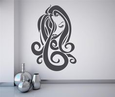Hair Salon Wall Art | Details about Wall Art sticker decal vinyl - Hair Salon Girl - Fashion