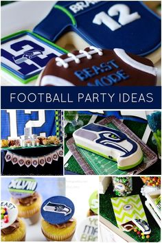 Seahawk birthday party ideas for boys www.spaceshipsandlaserbeams.com