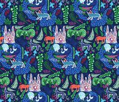 BLANCKSLATE CB CHALL HERO_JUNGLE fabric by blanckslate on Spoonflower - custom fabric