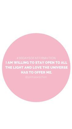 30 Days of Affirmation: Week 3 | Jenna Rammell