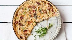 Tymiánový quiche s cibulí na víně a medu Foto: Quiche Lorraine, Food Hacks, Vegetable Pizza, Cheesecake, Food And Drink, Diet, Fresh, Cooking, Breakfast
