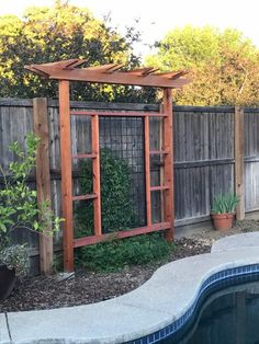 Gallery - Wild Hog Railing Pergola Attached To House, Deck With Pergola, Covered Pergola, Pergola Cover, Deck Railing Design, Deck Railings, Privacy Fence Designs, Pergola Designs, Porch Area
