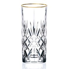 Lorren Home Trends Siena Crystal Glass with Gold Band Design (Set of 4) | Overstock™ Shopping - Great Deals on Lorren Home Trend Tumblers