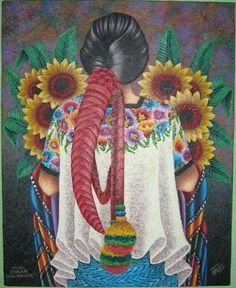 Girasoles. pinturas guatemaltecas de indigenas - Buscar con Google