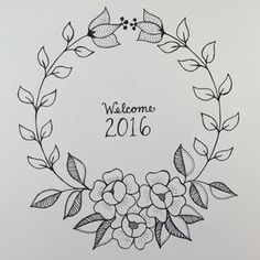 Awesome Most Popular Embroidery Patterns Ideas. Most Popular Embroidery Patterns Ideas. Hand Embroidery Patterns Free, Embroidery Flowers Pattern, Embroidery Art, Flower Patterns, Embroidery Designs, Bordado Floral, Buch Design, Wreath Drawing, Floral Drawing