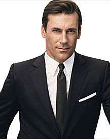 Men's Black Suit with Skinny Tie