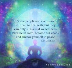 Breathe in calm, breathe out chaos