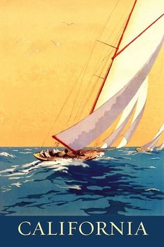 POSTER NANTUCKET MASSACHUSETTS BEACH PARTY SAILING SUMMER VINTAGE REPRO FREE S//H