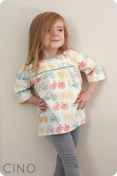 bicycle class picnic blouse, pattern here http://oliverands.com/oliver-and-s-patterns/OLV-OS025CP.html