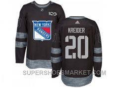 www.supershoesmar... YORK RANGERS #20 CHRIS KREIDER BLACK 1917-2017 100TH ANNIVERSARY STITCHED NHL JERSEY NEW STYLE Only $35.73 , Free Shipping!