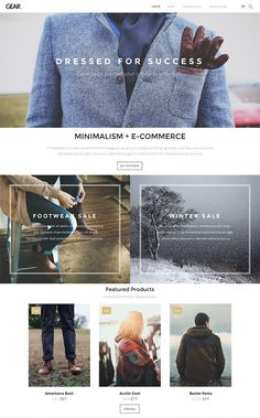 Gear is a minimalist eCommerce WordPress theme from ThemeTrust. The theme is best suitable for any business website, online store, boutique or any product