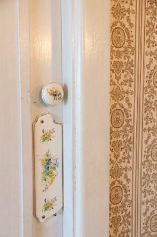 floral doorknob