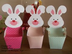 Stampin' Up! Easter Treat Boxes, Materials SU, cut out with a Cameo machine