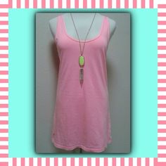 "Lilly Pulitzer Neon Pink Makena Tank Great little tank top by Lilly Pulitzer.  Bright neon pink, Makena scoop neck.  Made of 100% soft Pima cotton.  Size Small, measures chest (armpit to armpit) 17"", length 29"".  Pre-owned, excellent condition, no defects. Lilly Pulitzer Tops Tank Tops"