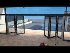 Retractable Fly Screens For Double Bifold Doors Awesome Animation in proportions 1280 X 720 Bi Fold Screen Doors - People who want to purchase retractable Retractable Patio Screens, Stacker Doors, Scandinavian Cabin, Door Decks, Sliding Screen Doors, House Deck, Types Of Doors, Folding Doors, Tropical Houses