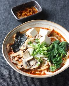 RecipeTin Eats | 21 Authentic Japanese VEGAN Recipes | miso udon noodle soup recipe with spicy korean chili dressing