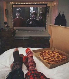 Harry Potter Pizza movie night