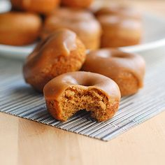 Baked Gingerbread Donuts.