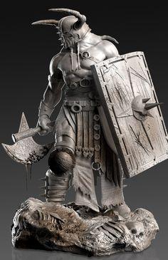 - Bringer of Death - by David Molina   Fan Art   3D   - (note: axe)