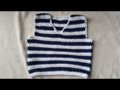 Tejer un chaleco de bebés - parte trasera en crochet - parte 1.4 by BerlinCrochet, My Crafts and
