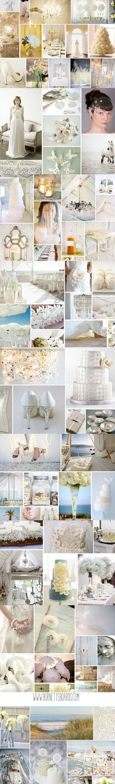 white wedding inspiration and ideas from www.burnettsboards.com