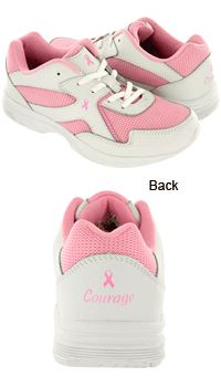 For the Cure Ultra Lite Pink Ribbon Walking Shoes at The Breast Cancer Site....giving a pair to SolesforSouls TODAY 8/9/13 for every pair sold <3