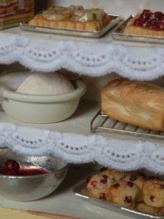 mini dollhouse bakery goods