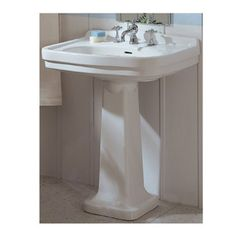 Barclay Stanford 35.75 In H White Vitreous China Pedestal Sink 3 848Wh | Pedestal  Sink, Sinks And China