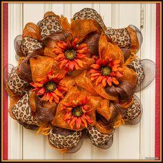 Fall DecoMesh Wreath by Craftytude on Etsy