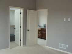 Repose Gray from Sherwin Williams. Lovely color of Gray